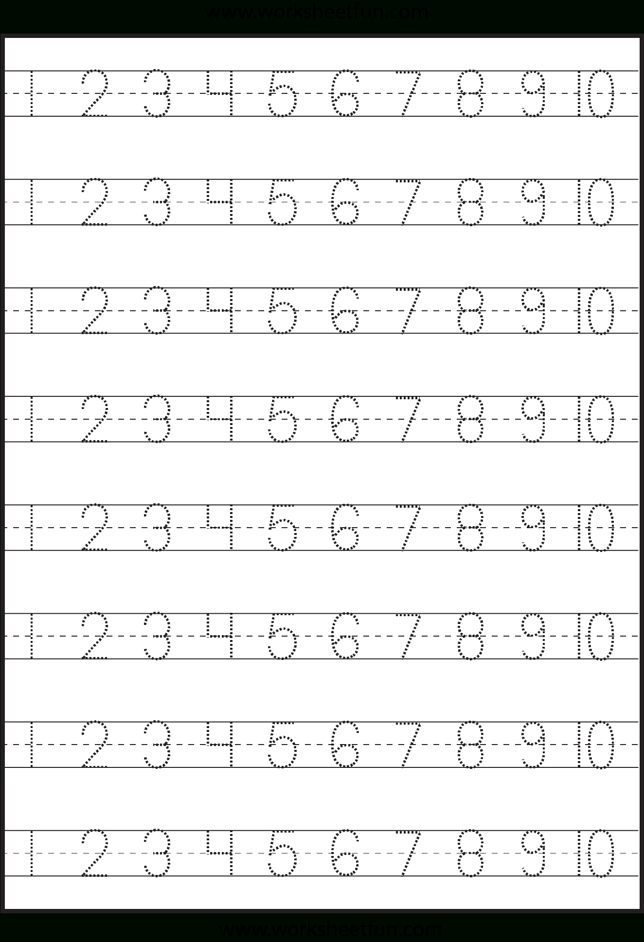 Number Tracing – 1-10 – Worksheet / Free Printable Worksheets | Free Printable Number Worksheets