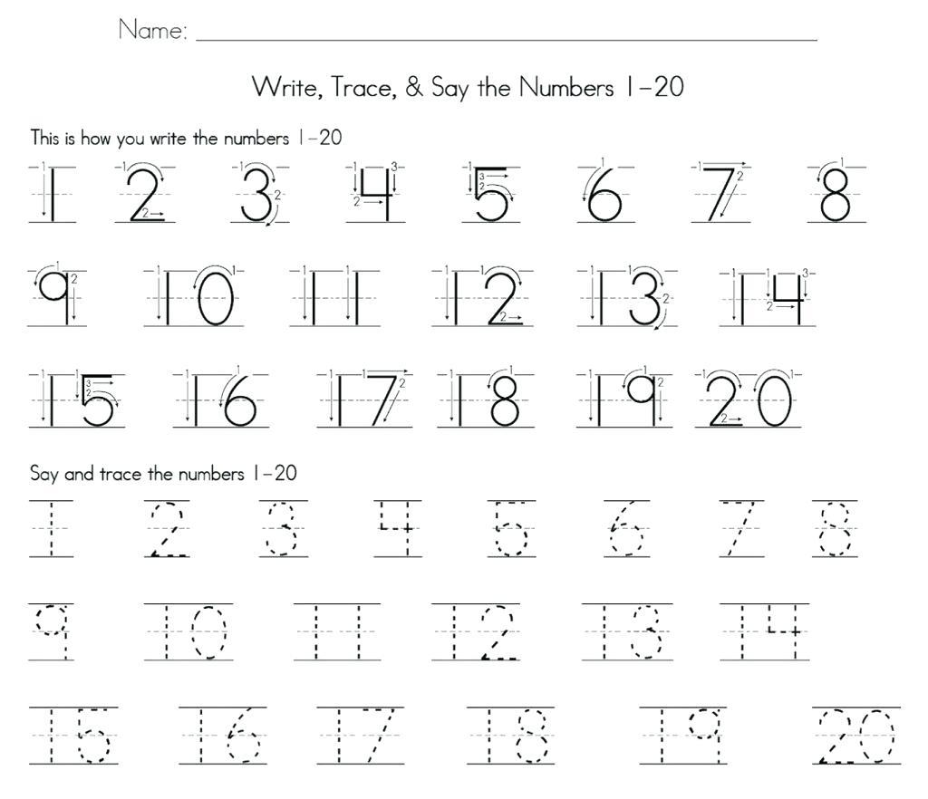Numbers 1 50 Math Tracing Math Number Worksheets 1 2 For Preschool | Free Printable Number Worksheets