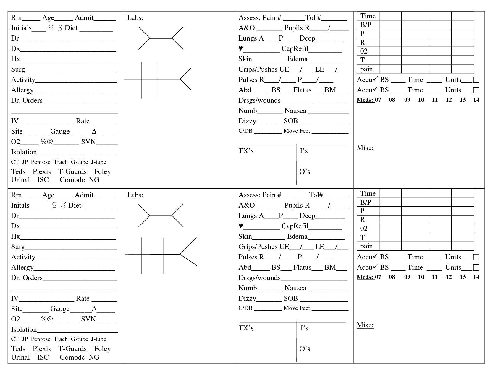 Nurse Brain Sheet | Cristina | Nurse Brain Sheet, Nurse Report Sheet | Printable Nursing Worksheets