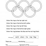 Olympic Rings Worksheet   Free Esl Printable Worksheets Madeteachers | Olympic Printable Worksheets