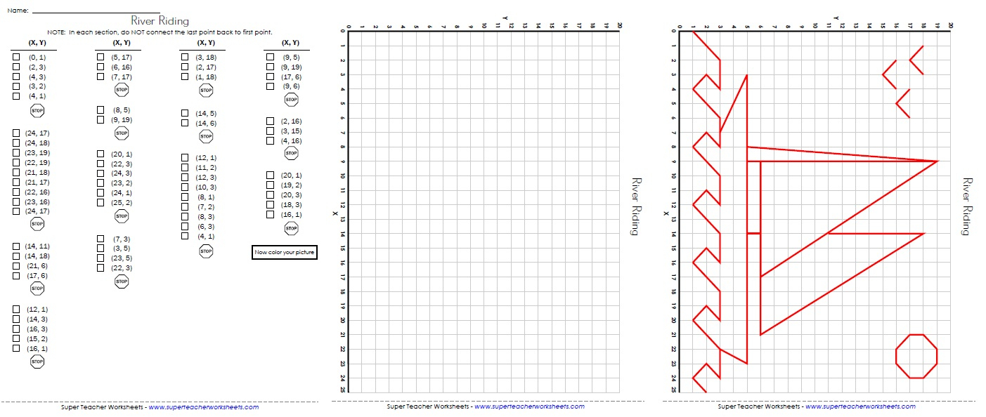 Ordered Pairs And Coordinate Plane Worksheets | Printable Coordinate Plane Worksheets