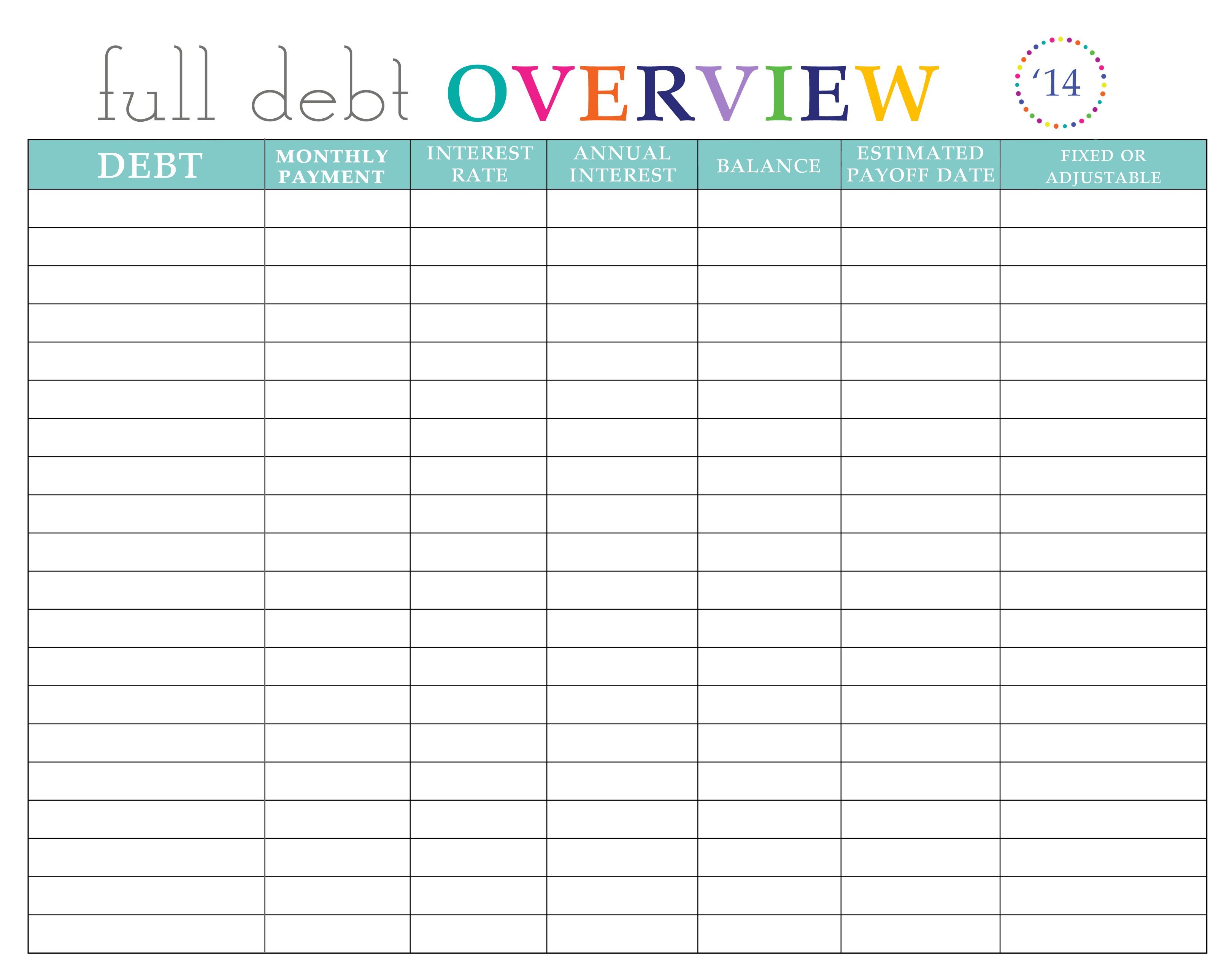 Paying Off Debt Worksheets - Free Printable Debt Payoff Worksheet | Debt Worksheet Printable