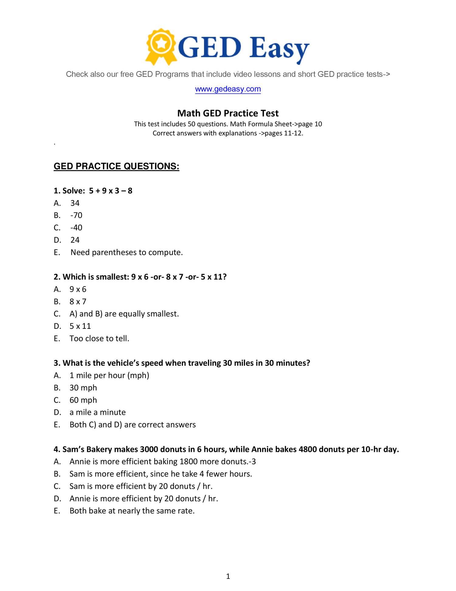 Pdf Printable Ged Practice Book | Wiring Library | Printable Ged Science Practice Worksheets