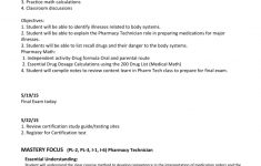 Pharm-Tech Lesson Plan | Printable Pharmacy Technician Math Worksheets