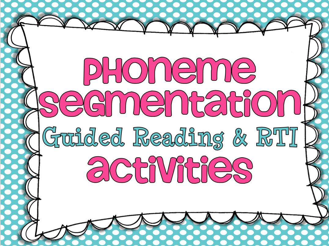 Phoneme Segmentation {And A Freebie} - Little Minds At Work | Free Printable Phoneme Segmentation Worksheets