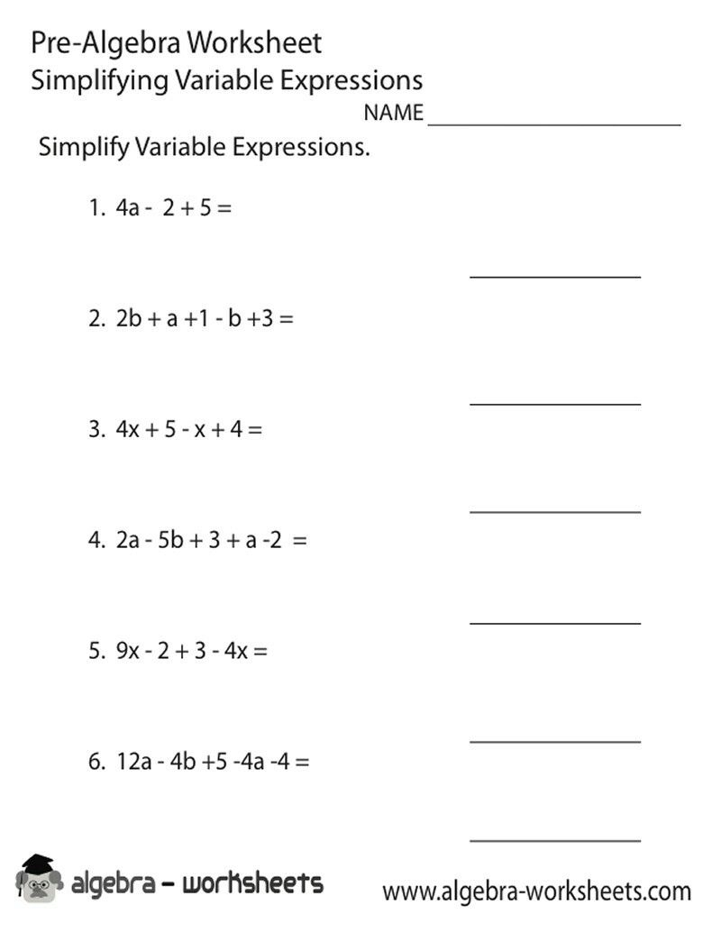 Pinjerry Jenkins On Kids Learning | Algebra Worksheets, 8Th | 8Th Grade Pre Algebra Worksheets Printable