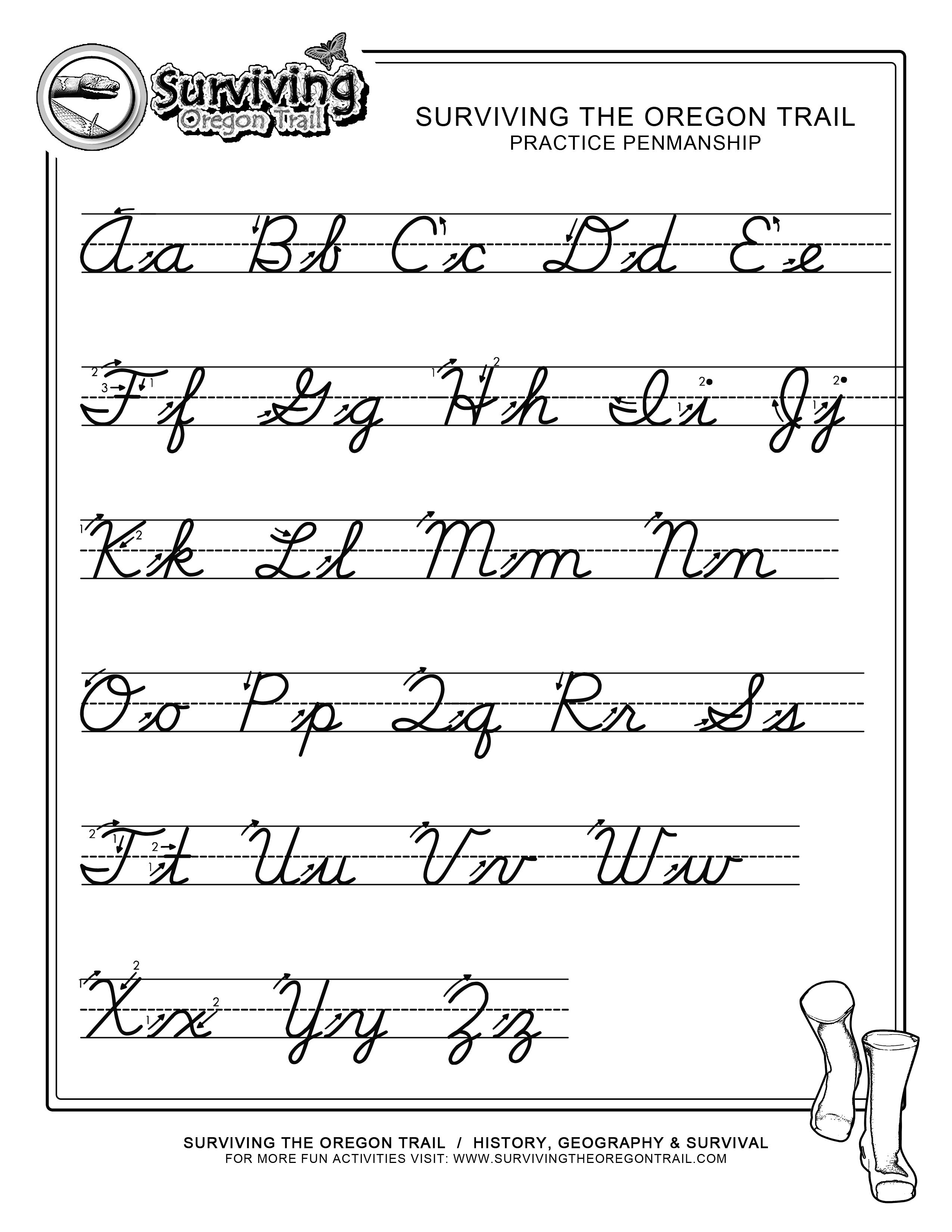 Pinjessica From Honeysuckle & Vine On Homeschool | Cursive | Printable Cursive Worksheets Az