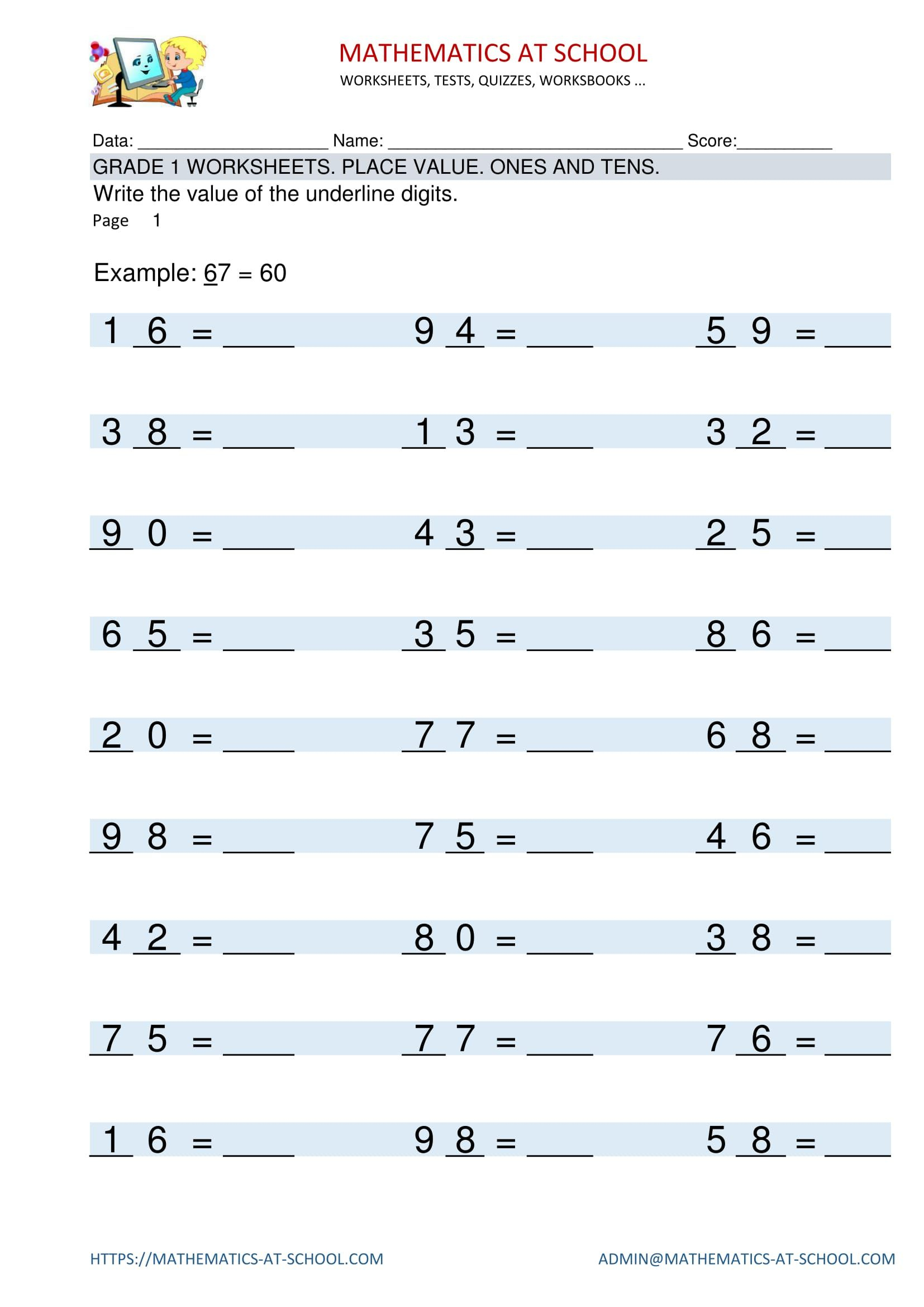 Pinmathematics School On Grade 1 Maths Worksheets. Free | 4Th Grade Math Worksheets Printable Pdf