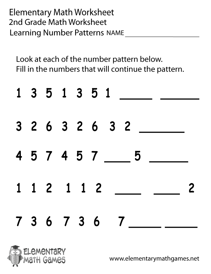 Pinwomanofgodde On Lesson Planning | Math Worksheets, 2Nd Grade | Printable Number Pattern Worksheets