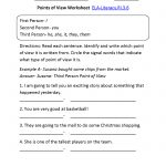 Point Of View Worksheet Ela Literacy.ri.3.6 Reading Informational | 3Rd Grade Language Arts Worksheets Printables