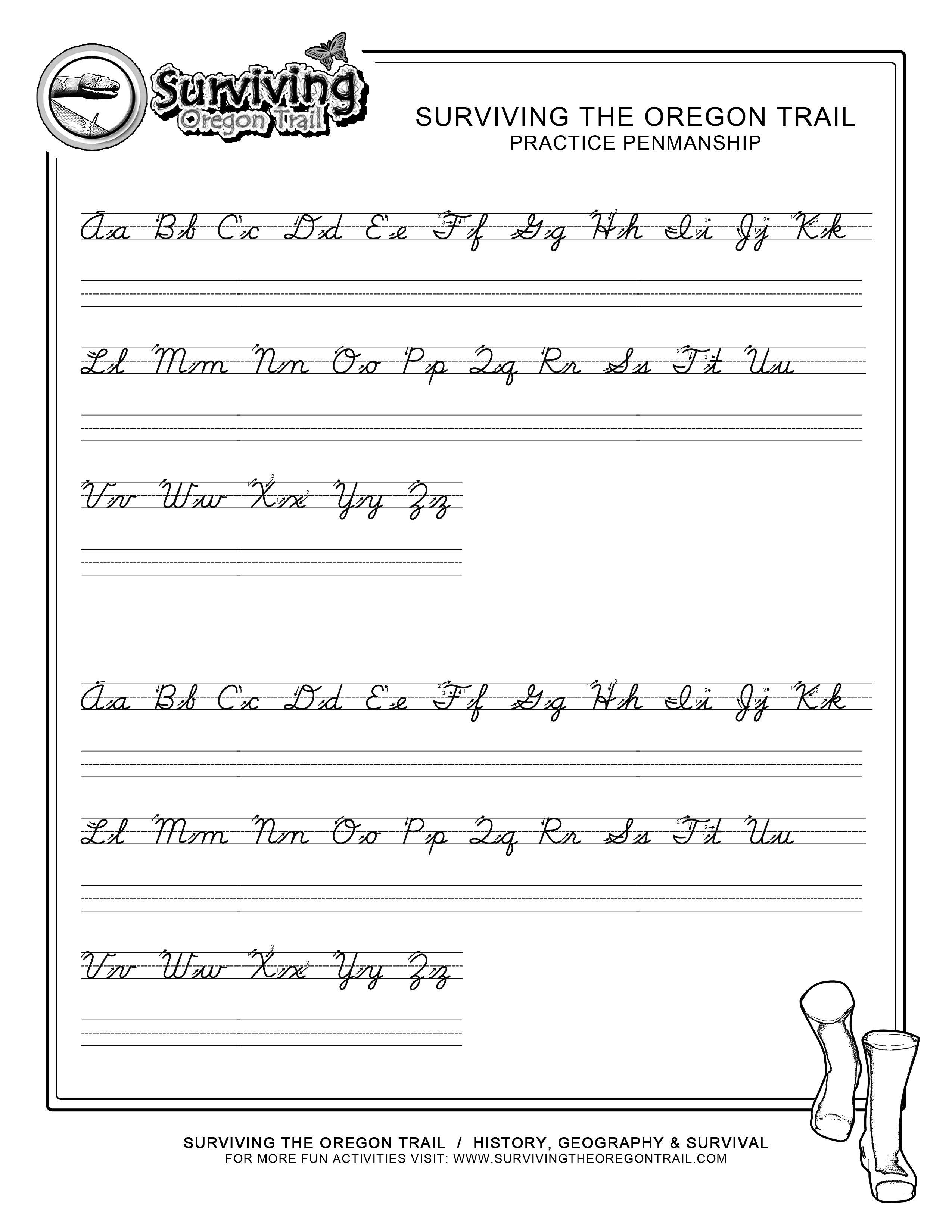 Practice Penmanship – Free Abc's Printable Cursive Writing Worksheet | Free Printable Handwriting Worksheets