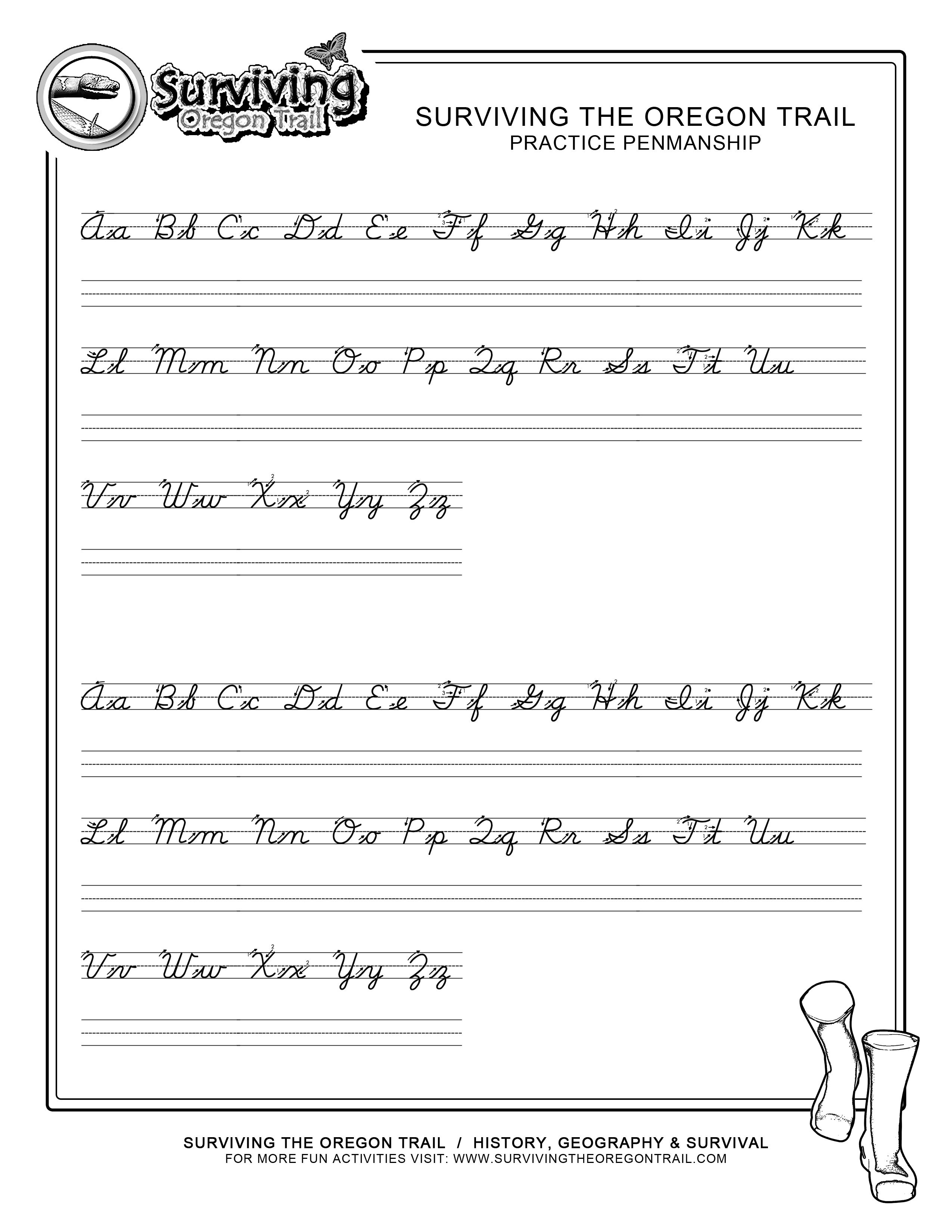 Practice Penmanship – Free Abc's Printable Cursive Writing Worksheet | Printable Cursive Worksheets Az