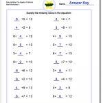 Pre Algebra | Algebra Worksheets For 4Th Grade Printable
