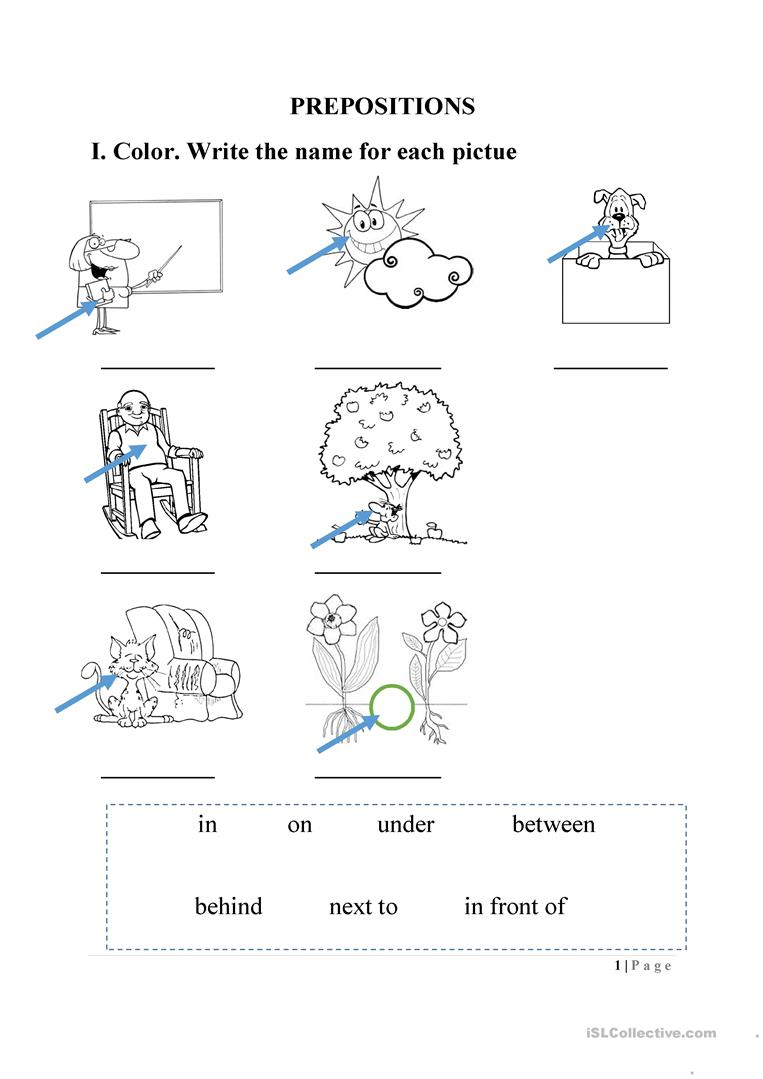 Preposition Worksheet Worksheet - Free Esl Printable Worksheets Made | Free Printable Preposition Worksheets For Kindergarten