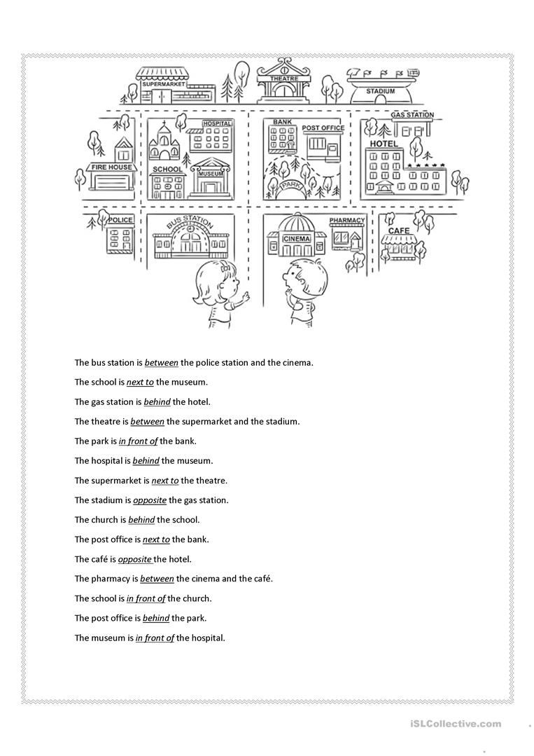 Prepositions Of Place Worksheet - Free Esl Printable Worksheets Made | Free Printable Worksheets For Prepositions