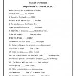 Prepositions Of Time ( On , In , At) Worksheet   Free Esl Printable   Free Printable Worksheets For Prepositions