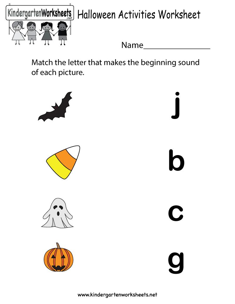 Preschool Activity Pages – With Stuff Also Printable Worksheets | Preschool Halloween Worksheets Printables