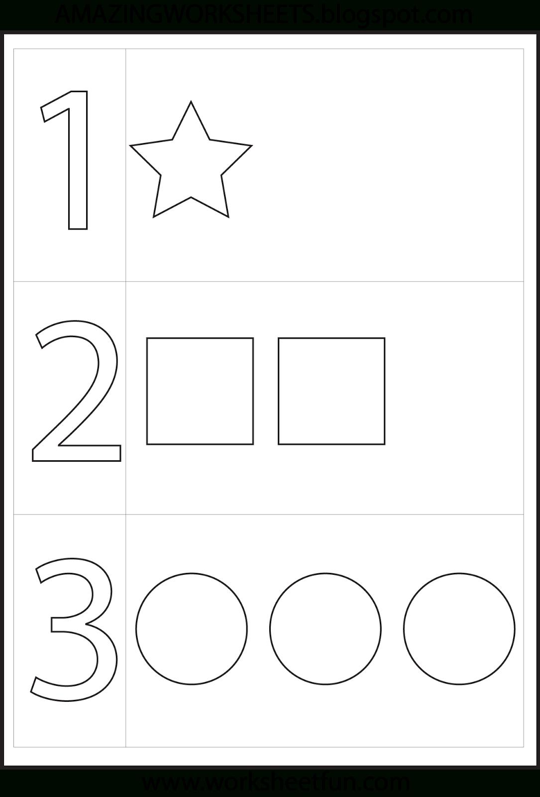 Preschool Number One Worksheet | Number 1 Preschool Worksheets | Number One Worksheet Preschool Printable Activities