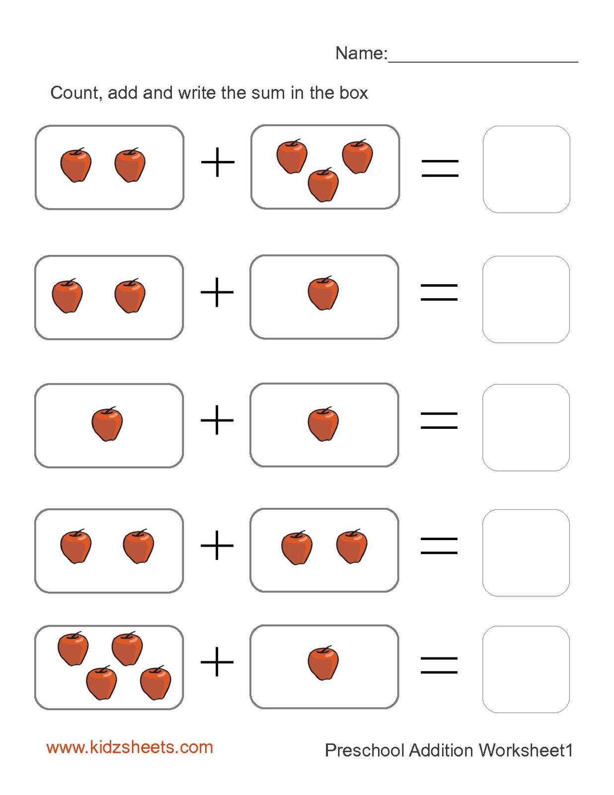 Preschool Printables | Printable Preschool Worksheets,free | Free Printable Pre K Math Worksheets