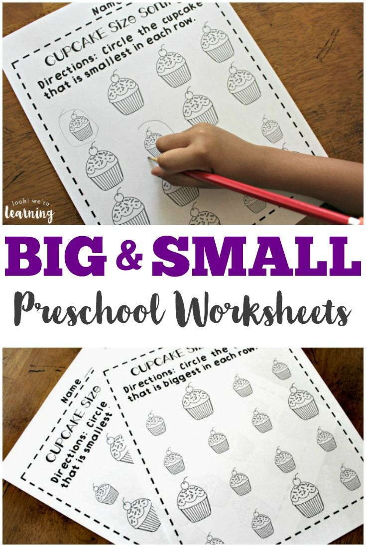 Preschool Worksheets: Big And Small Worksheets For Preschool | Big And Small Ideas Printable Worksheets