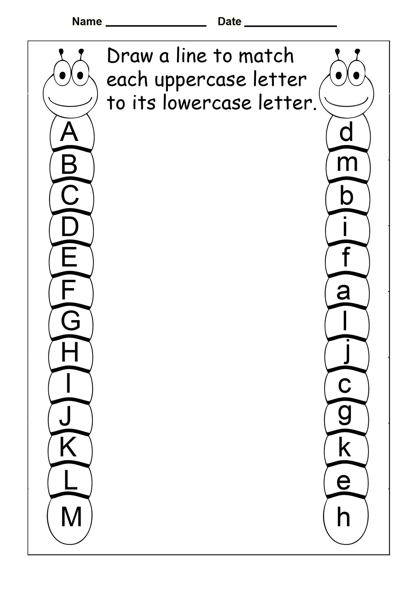 Preschool Worksheets Free Uppercase And Lowercase Letters | Learning | Vpk Printable Worksheets
