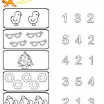Preschool Worksheets | Kids Under 7: Preschool Counting Printables | Printable Worksheets For Pre K Students