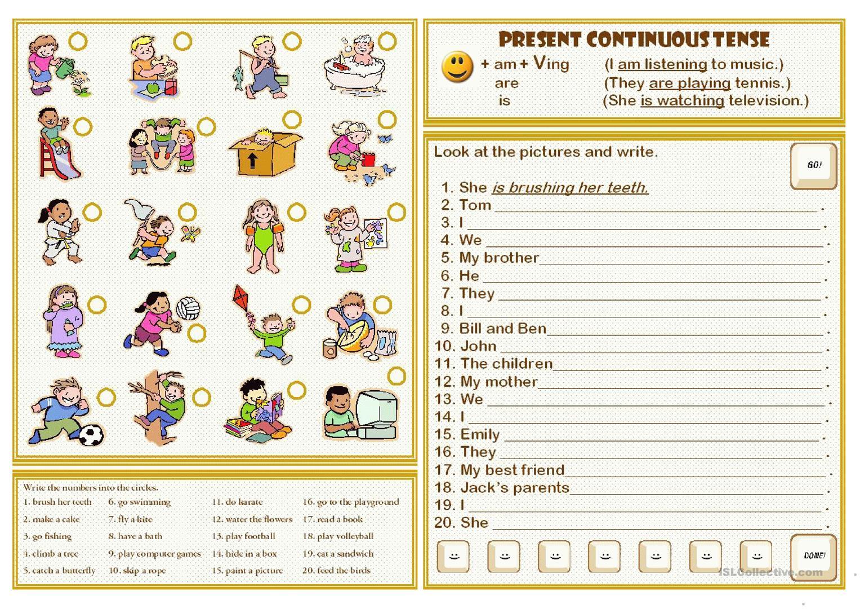 Present Continuous Tense Worksheet - Free Esl Printable Worksheets | Present Progressive Worksheets Printable