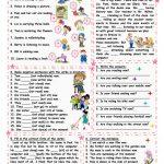 Present Progressive Tense Worksheet   Free Esl Printable Worksheets | Present Progressive Worksheets Printable