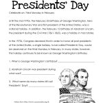 Presidents' Day (Free Worksheet) Updated | Squarehead Teachers | Free Printable Presidents Day Worksheets