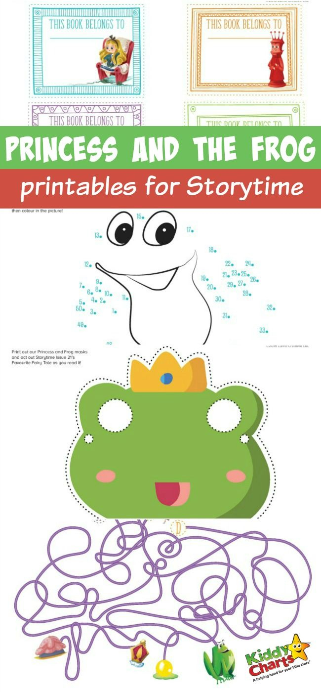 Princess And The Frog Printables For Storytime | Brownies | Frog | The Frog Prince Worksheets Printable