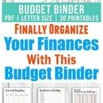 Printable Budget Binder  Floral | Money Saving Challenges | Printable Budget Binder Worksheets