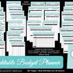 Printable Budget Planner/finance Binder Update   All About Planners | Printable Budget Binder Worksheets