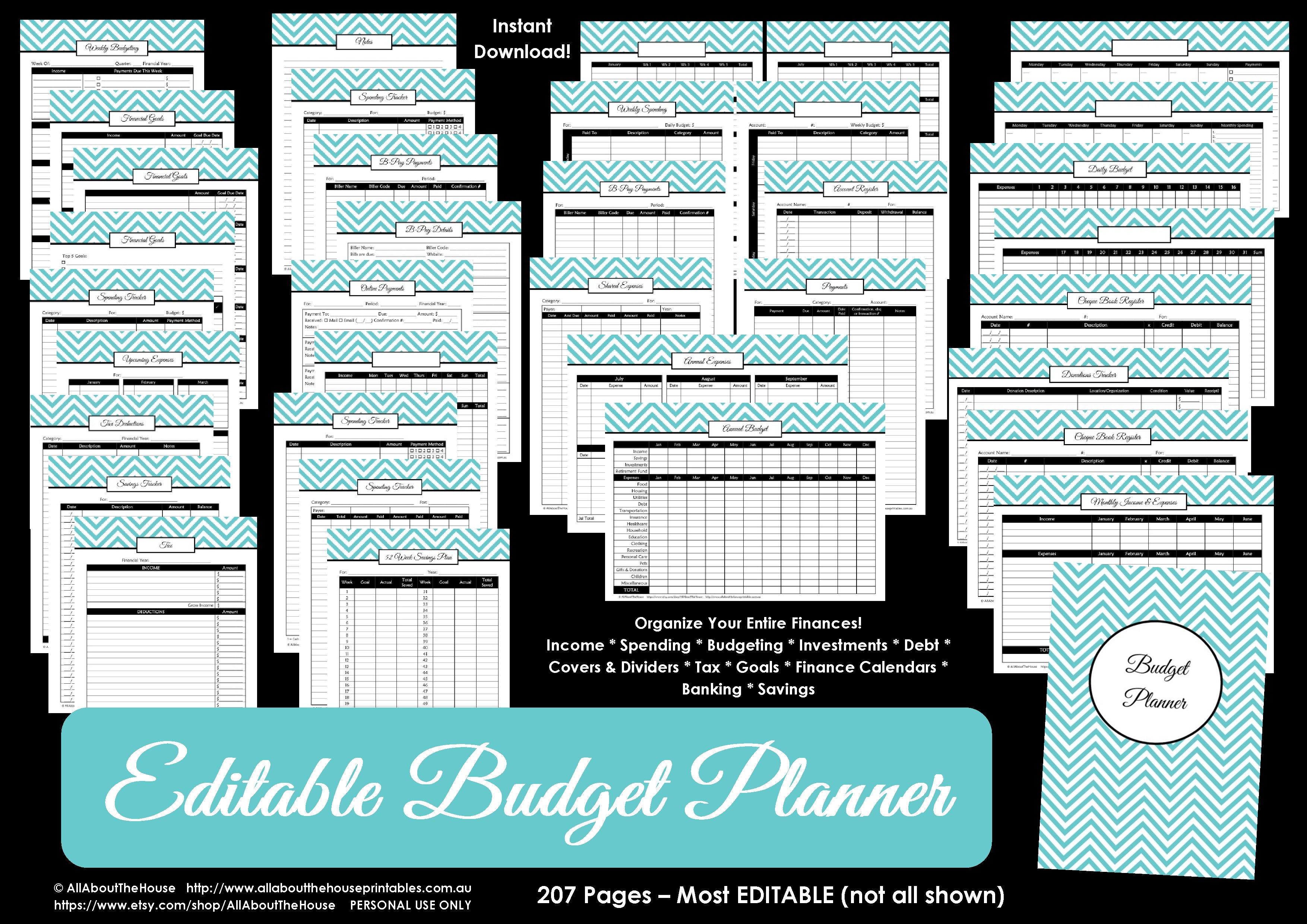 Printable Budget Planner/finance Binder Update - All About Planners | Printable Budget Binder Worksheets