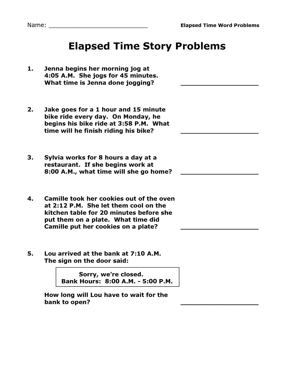 Printable Elapsed Time Worksheets Free | Activity Shelter | Elapsed Time Worksheets Free Printable