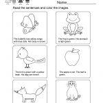 Printable Kindergarten Reading Worksheet   Free English Worksheet | Beginning Reading Worksheets Printable