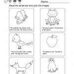 Printable Kindergarten Reading Worksheet   Free English Worksheet | Kindergarten Reading Printable Worksheets