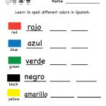 Printable Kindergarten Worksheets | Printable Spanish Worksheet | Free Printable Elementary Spanish Worksheets