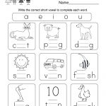 Printable Phonics Worksheet   Free Kindergarten English Worksheet | English Worksheets Free Printables