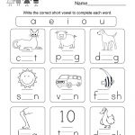 Printable Phonics Worksheet   Free Kindergarten English Worksheet | Www Free Printable Worksheets