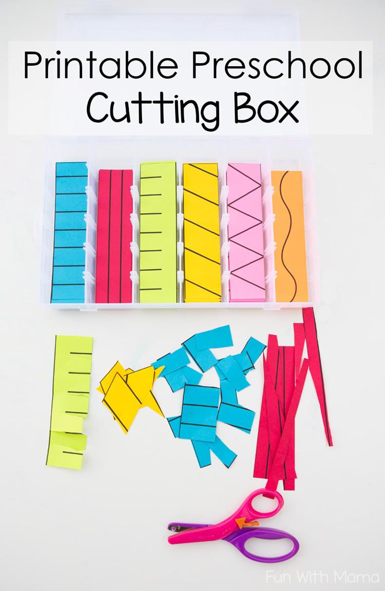 Printable Preschool Cutting Busy Box - Fun With Mama - Free | Free Printable Fine Motor Skills Worksheets