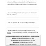 Printable Story And Worksheet To Practice The English Past | Past Progressive Tense Worksheets Printable