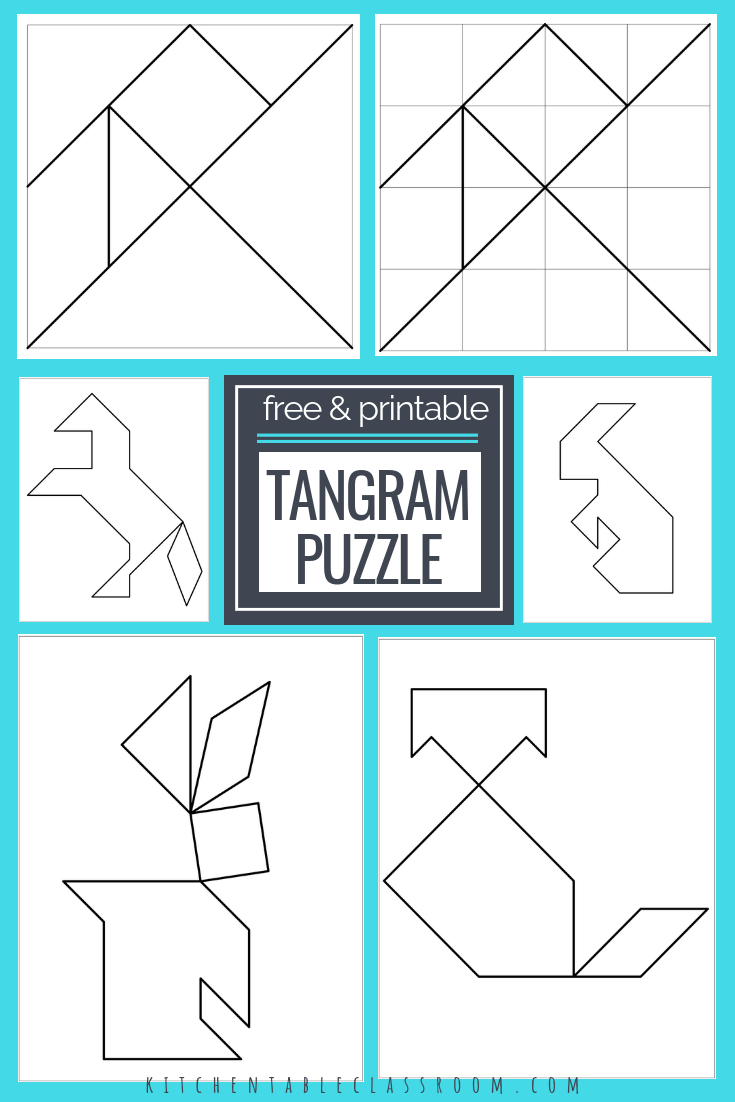 Printable Tangrams - An Easy Diy Tangram Template | Free Homeschool | Printable Tangram Worksheets