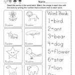 Printable Vocabulary Worksheet   Free Kindergarten English Worksheet | Printable English Worksheets