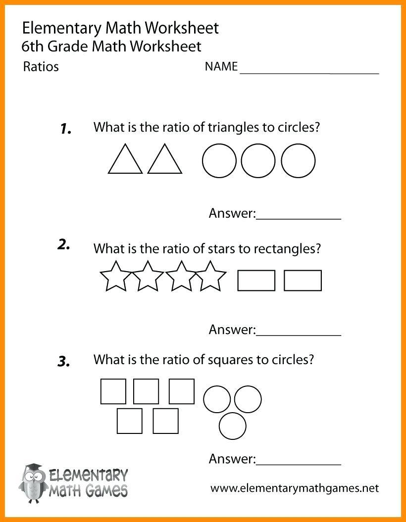 Printable Worksheets For 6Th Graders Grade Math Ratios Worksheets   Free Printable Multiplication Worksheets For 6Th Grade