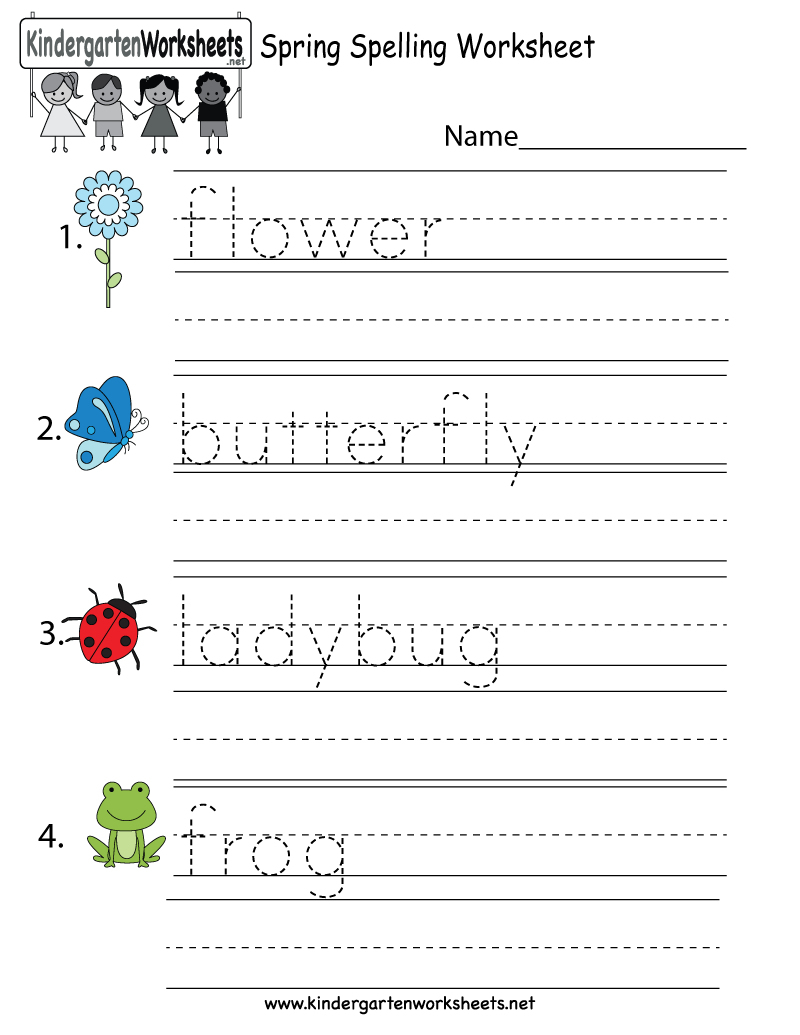 Printable Worksheets For Kids – With Grade 4 English Also Numeracy | Printable Spelling Worksheets For Kindergarten