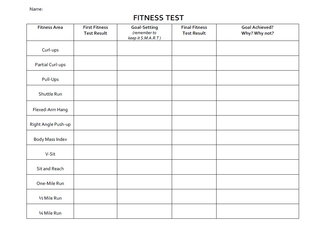 Printables. Fitness Goals Worksheet. Lemonlilyfestival Worksheets | Free Printable Fitness Worksheets