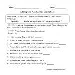 Punctuation Worksheets High School   Koran.sticken.co | Free Printable Worksheets For Punctuation And Capitalization