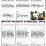 Pupils Strike For Action On Climate Change Worksheet   Free Esl | Climate Change Printable Worksheets
