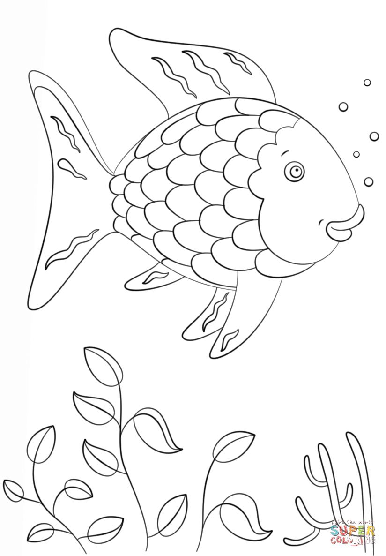 Rainbow Fish | Super Coloring | Arts And Crafts | Fish Coloring Page | Rainbow Fish Printable Worksheets