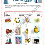 Ramadan Picture Dictionary 13 09 08   Esl Worksheetazza 20 | Ramadan Worksheets Printables